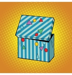 Striped holiday box for gifts vector image