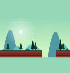 Style scenery for game background vector
