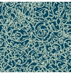 Vintage seamless pattern of weaving plants vector image vector image