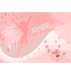 Whimsical Fairy Backdrop vector image vector image