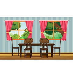 A dining table vector image vector image