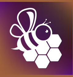 bee and honeycombs design vector image vector image