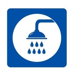 blue shower head sign vector image