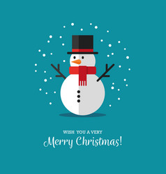 flat snowman icon vector image