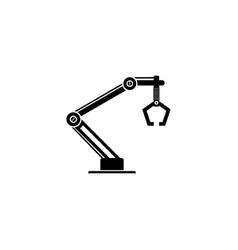 Industrial machine robot arm icon vector