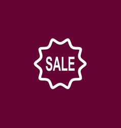 sale mark icon simple vector image
