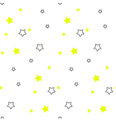 star shape blue and green seamless kid pattern vector image vector image
