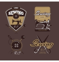 Tailoring color logo labels and badges vector image