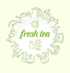 tea house icons vector image