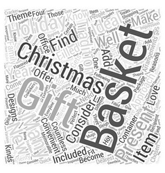 christmas gift baskets Word Cloud Concept vector image vector image