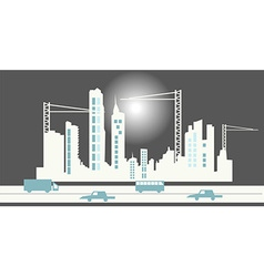 City skyline background vector image
