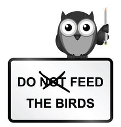 Feed Birds vector image vector image