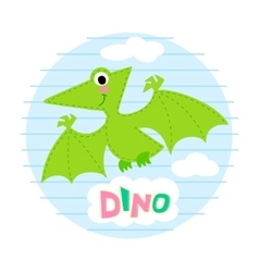 Flying dinosaur vector image