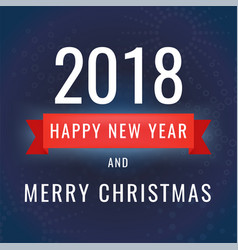 happy new year 2018 on dark vector image vector image
