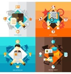 Resume 2x2 Design Concept Set vector image