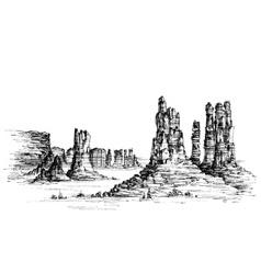 Wild west iconic landscape vector image