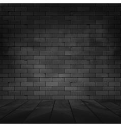 brick wall design template Old dark wall texture vector image