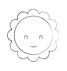 cute flower baby shower decoration greeting vector image