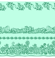 Design pattern with decorative ornament vector image vector image