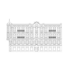 facade of the classical building vector image
