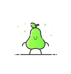funny pear character vector image