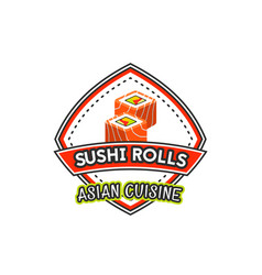 japanese cuisine restaurant sushi icon vector image vector image