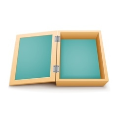 Open wooden box isolated vector image vector image