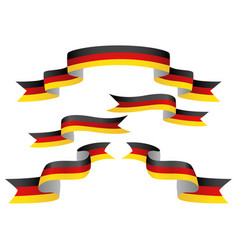 set of germany insignia in different shape of vector image vector image