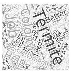 Termite understanding word cloud concept vector