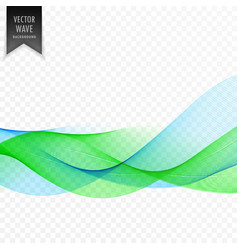 abstract blue and green wave background vector image