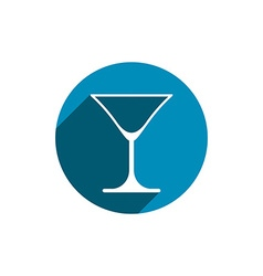 Alcohol beverage theme icon classic martini glass vector image