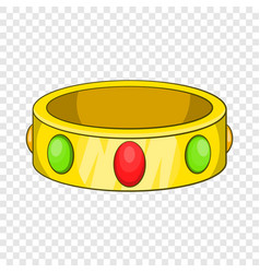 Ancient bracelet icon cartoon style vector