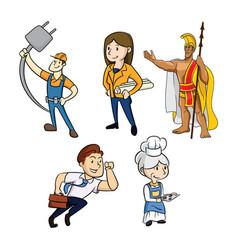 any jobs person colored mascot logo premium vector image