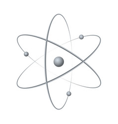 atom orbit symbol icon vector image