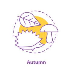 autumn nature concept icon vector image