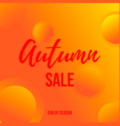 Autumn sale background for poster and web banner vector