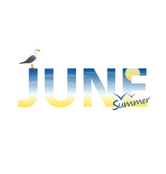 banner year in june vector image vector image