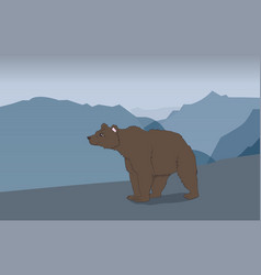 bear in the mountains vector image