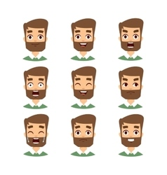 Bearded man face vector image