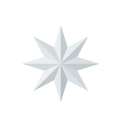 Beautiful faceted shiny white paper star vector