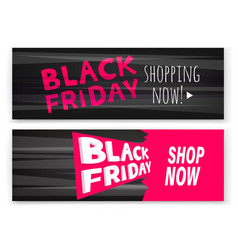 Black friday sale banners advertising banners vector