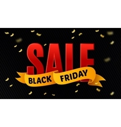 Black friday sale design template Sale vector image