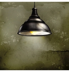 Black Lamp old-style vector