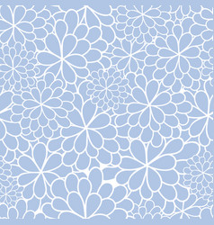 blue flowers texture pattern vector image