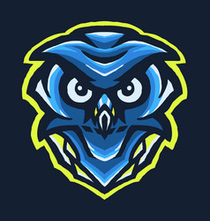 blue owl e sport vector image