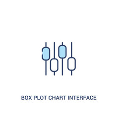 Box plot chart interface concept 2 colored icon vector