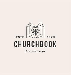 church book hipster vintage logo icon vector image