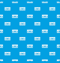 compartment carriage pattern seamless blue vector image