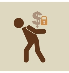 crisis economy save money concept icon design vector image