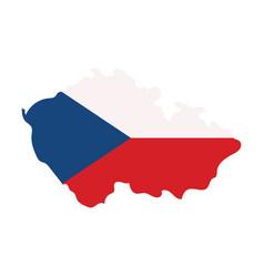 Czech republic set detailed country shape vector